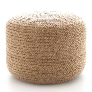 D&A Braided Jute Pouf